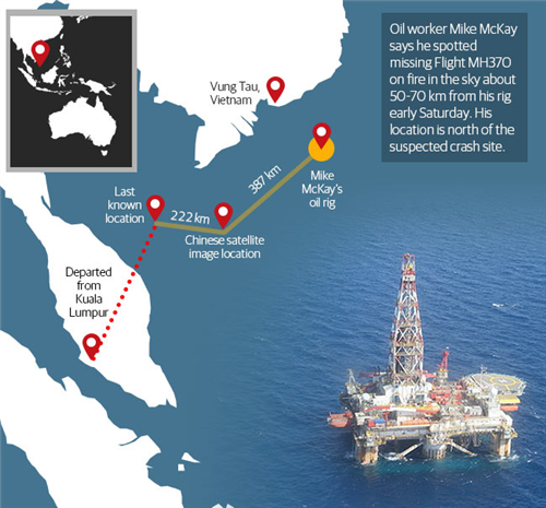 oil rig worker thinks he saw malaysia air flight 370 go